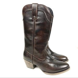 Ariat Bluebell Western Brushed Brown Boot Size 9